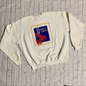 Vintage 80's Ugly Christmas Floral Sweatshirt XXL